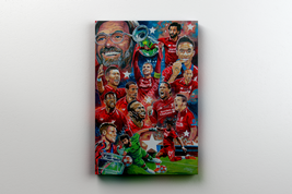 liverpool european champions 2019 canvas a3 size